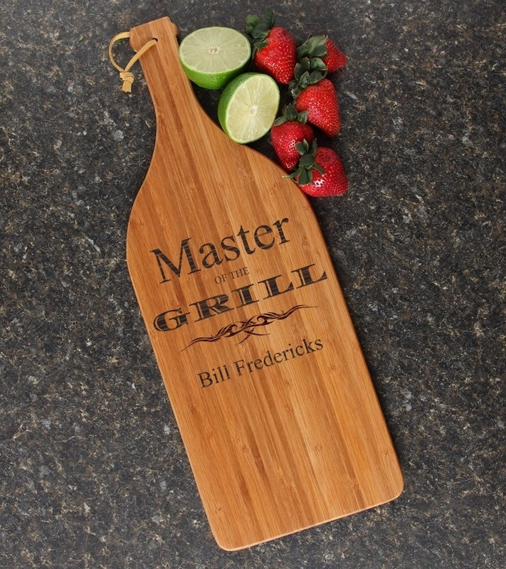 Personalized Cutting Board Engraved Bamboo 16 x 5 DESIGN 23