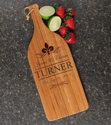Personalized Cutting Board Engraved Bamboo 16 x 5 DESIGN 20