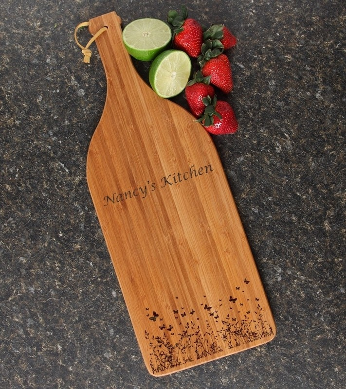 Personalized Cutting Board Engraved Bamboo 16 x 5 DESIGN 30
