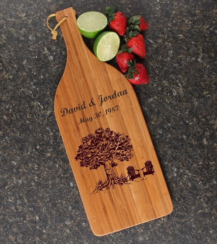 Personalized Cutting Board Engraved Bamboo 16 x 5 DESIGN 31