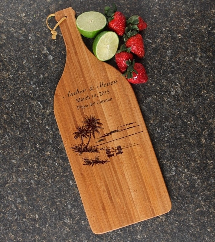 Personalized Cutting Board Engraved Bamboo 16 x 5 DESIGN 33