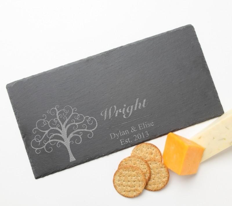 Personalized Slate Cheese Board 15 x 7 DESIGN 18