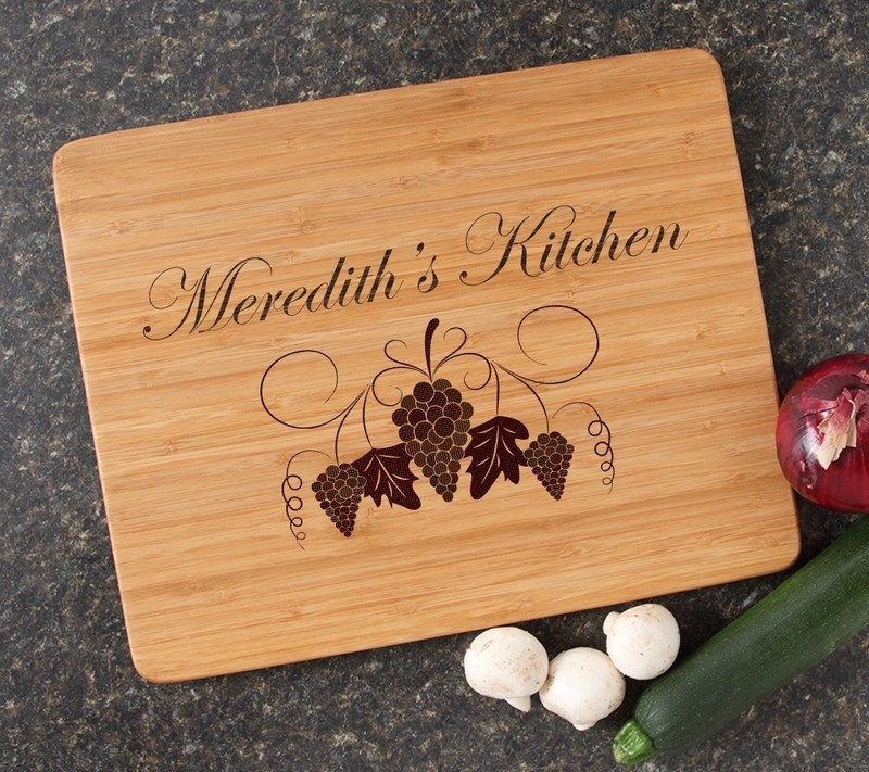 Engraved Bamboo Cutting Board Personalized 15x12 DESIGN 40