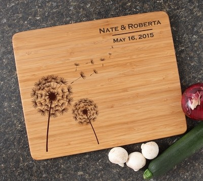 Engraved Bamboo Cutting Board Personalized 15x12 DESIGN 28