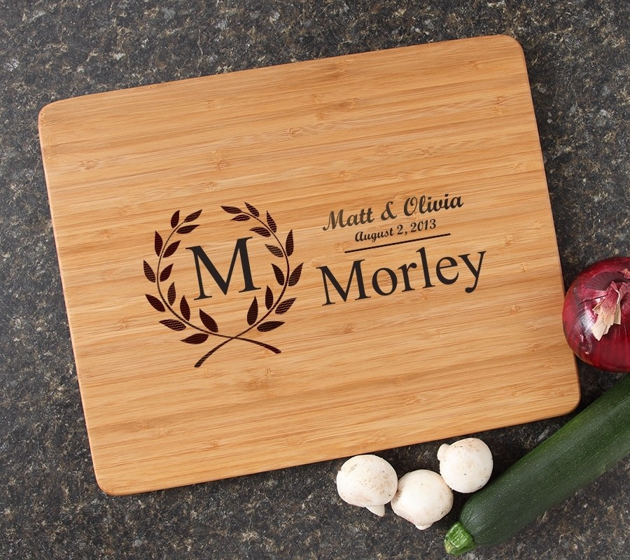Engraved Bamboo Cutting Board Personalized 15x12 DESIGN 6