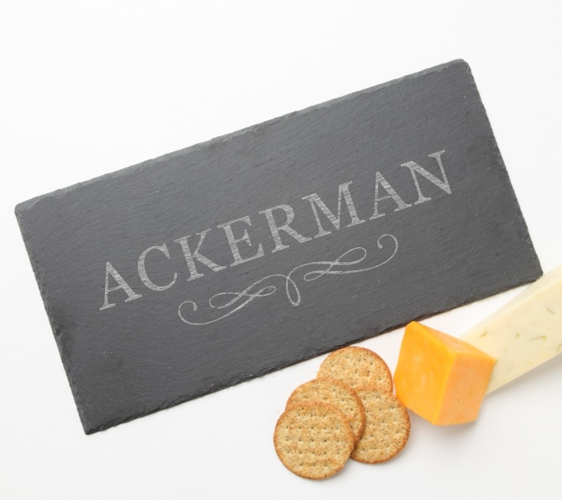 Personalized Slate Cheese Board 15 x 7 DESIGN 8