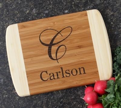 Personalized Cutting Board Custom Engraved 10 x 7 DESIGN 3