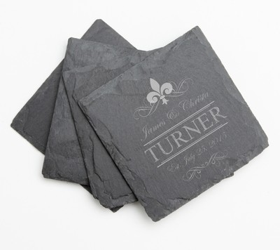 Personalized Slate Coasters Engraved Slate Coaster Set DESIGN 20