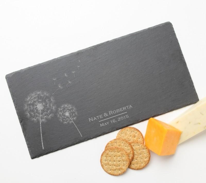 Personalized Slate Cheese Board 15 x 7 DESIGN 28
