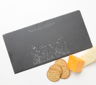 Personalized Slate Cheese Board 15 x 7 DESIGN 30