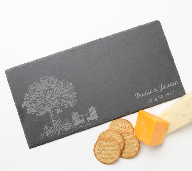 Personalized Slate Cheese Board 15 x 7 DESIGN 31