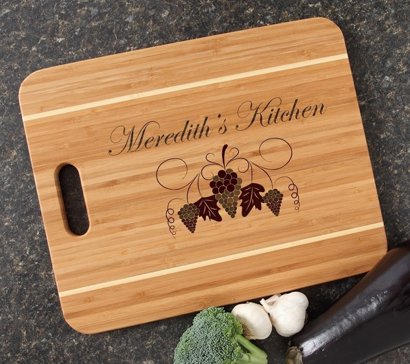 Personalized Cutting Board Engraved 15x12 Handle DESIGN 40