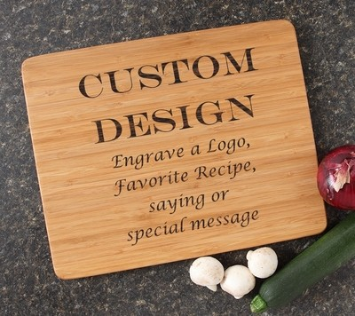 Engraved Bamboo Cutting Board Personalized 15x12 DESIGN 13
