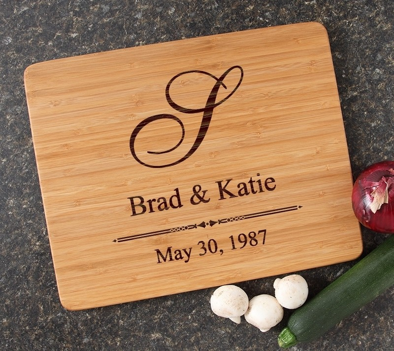 Engraved Bamboo Cutting Board Personalized 15x12 DESIGN 11