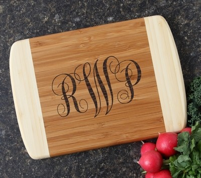Personalized Cutting Board Custom Engraved 10 x 7 DESIGN 1