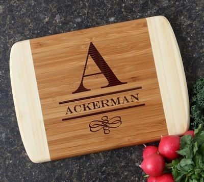 Personalized Cutting Board Custom Engraved 10 x 7 DESIGN 12