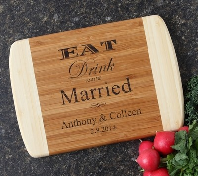Personalized Cutting Board Custom Engraved 10 x 7 DESIGN 17