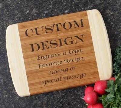 Personalized Cutting Board Custom Engraved 10 x 7 DESIGN 13