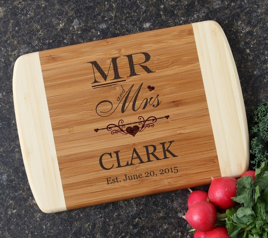 Personalized Cutting Board Custom Engraved 10 x 7 DESIGN 21