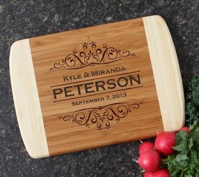 Personalized Cutting Board Custom Engraved 10 x 7 DESIGN 7