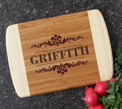 Personalized Cutting Board Custom Engraved 10 x 7 DESIGN 16