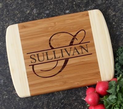 Personalized Cutting Board Custom Engraved 10 x 7 DESIGN 25