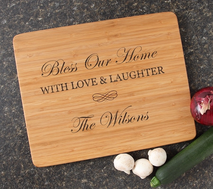 Engraved Bamboo Cutting Board Personalized 15x12 DESIGN 22