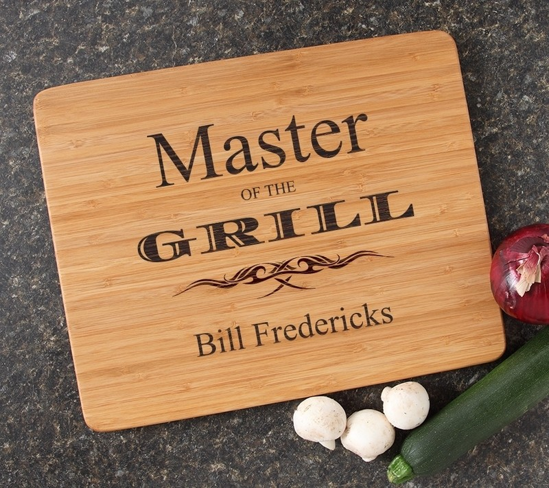Engraved Bamboo Cutting Board Personalized 15x12 DESIGN 23