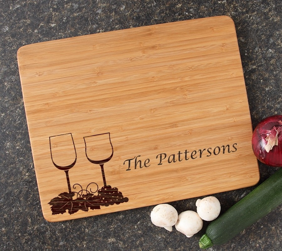 Engraved Bamboo Cutting Board Personalized 15x12 DESIGN 5