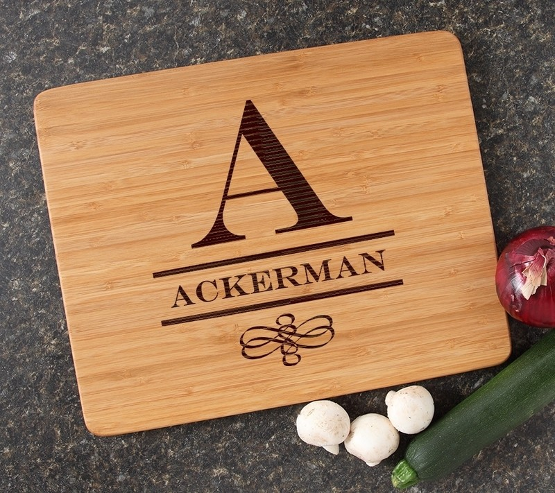 Engraved Bamboo Cutting Board Personalized 15x12 DESIGN 12
