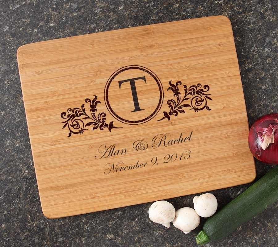 Engraved Bamboo Cutting Board Personalized 15x12 DESIGN 15
