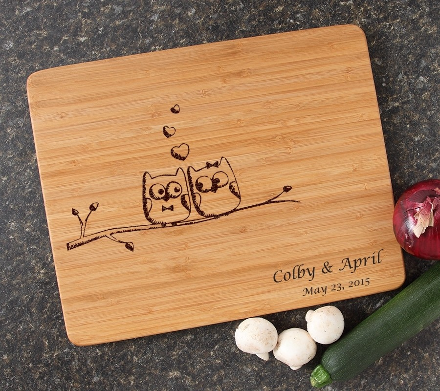 Engraved Bamboo Cutting Board Personalized 15x12 DESIGN 29