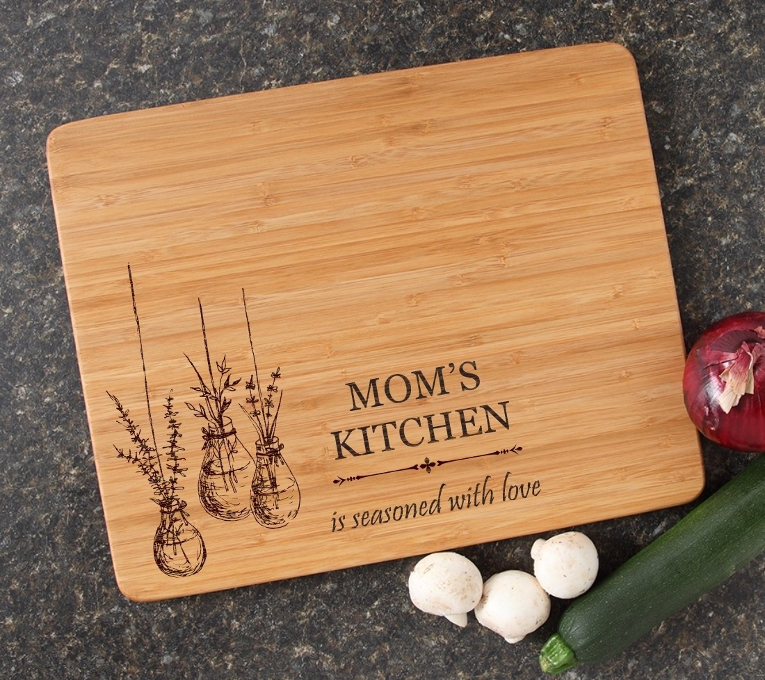 Engraved Bamboo Cutting Board Personalized 15x12 DESIGN 37
