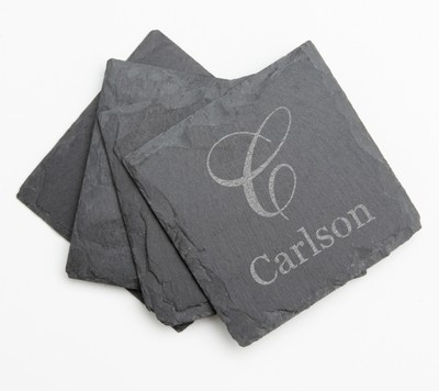 Personalized Slate Coasters Engraved Slate Coaster Set DESIGN 3