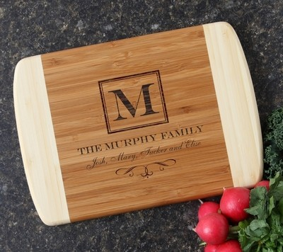 Personalized Cutting Board Custom Engraved 10 x 7 DESIGN 41