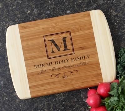 Personalized Cutting Board Custom Engraved 10 x 7 DESIGN 41