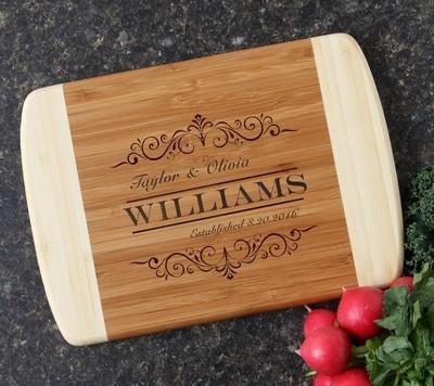 Personalized Cutting Board Custom Engraved 10 x 7 DESIGN 34