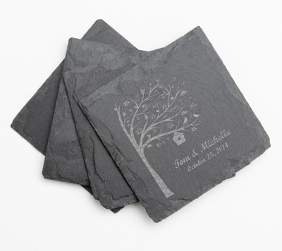 Personalized Slate Coasters Engraved Slate Coaster Set DESIGN 27