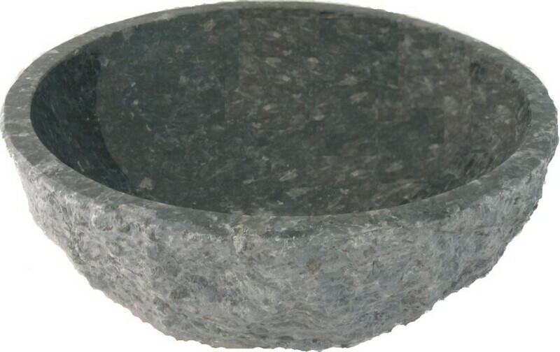Blu Perla Chiseled Granite Vessel