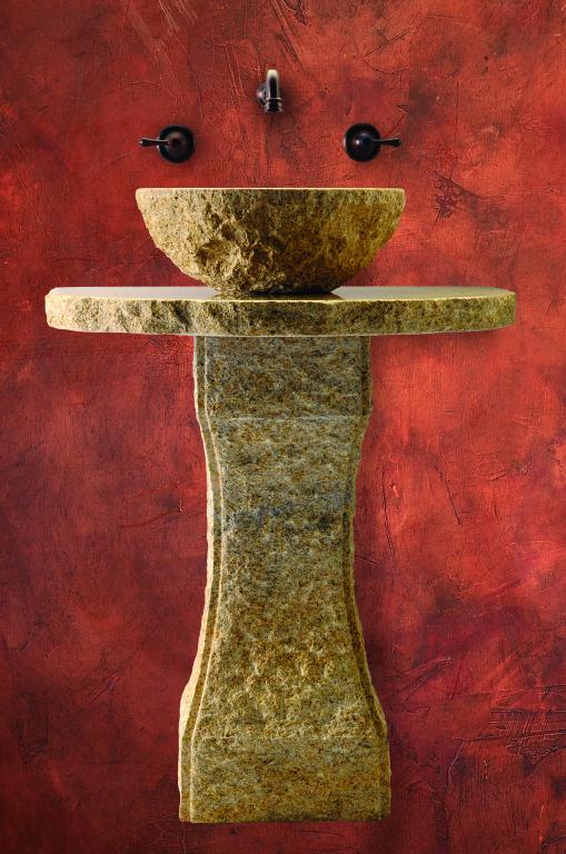 Pillar Divine Tuscan Pedestal - Golden