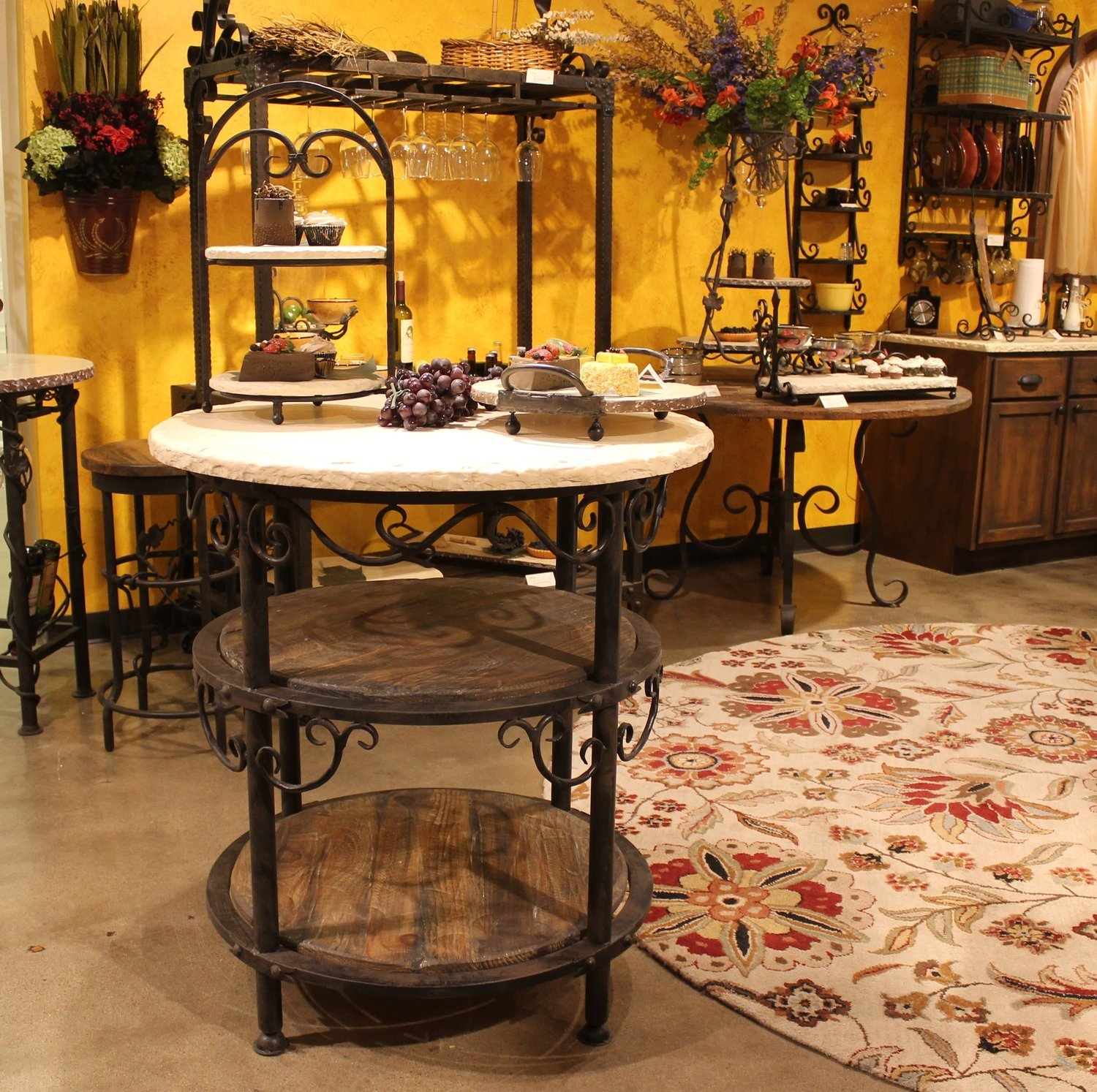 Siena Round Kitchen Island