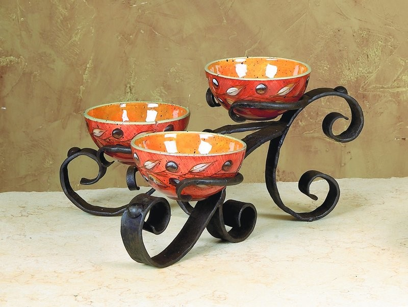Amalfi Triple Bowl Server