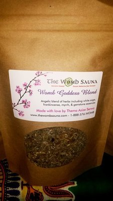 5 Prepacked 8 oz herbs for Resale- Womb Goddess Blend