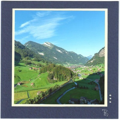 Bergwelten Fotokarte Quadrat