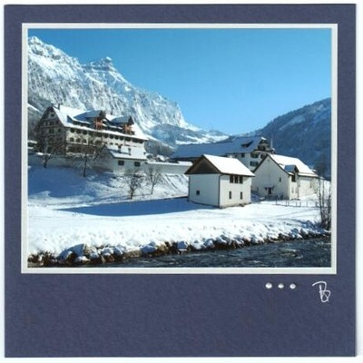 Fotokarte Trauer Kloster Muotathal Winter Quadrat