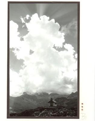 Fotokarte Trauerkarte Kapelle Glattalp