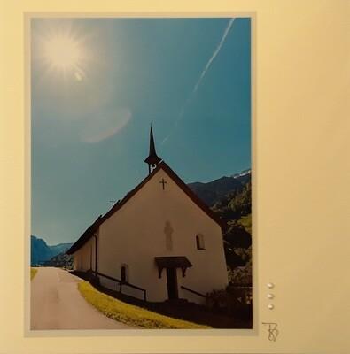 Fotokarte altes Klosterkirche Muotathal Quadrat