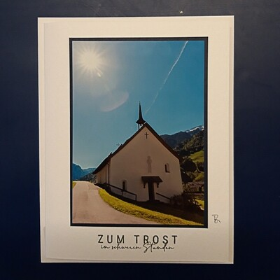 Fotokarte Trauerkarte alte Klosterkapelle Muotathal