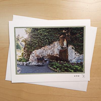 Fotokarte Trauerkarte Lourdesgrotte