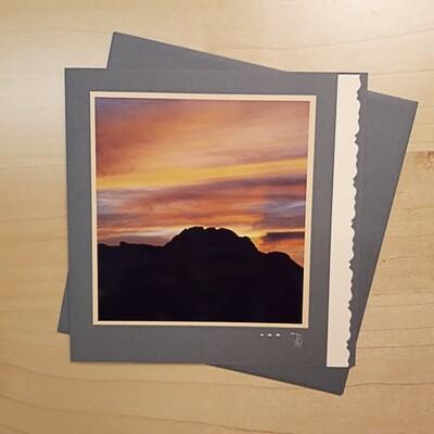 Mit Licht Malen Fotokarte Quadrat rote Sonnenuntergang